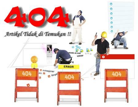 Custom Halaman Error 404 untuk Blogger