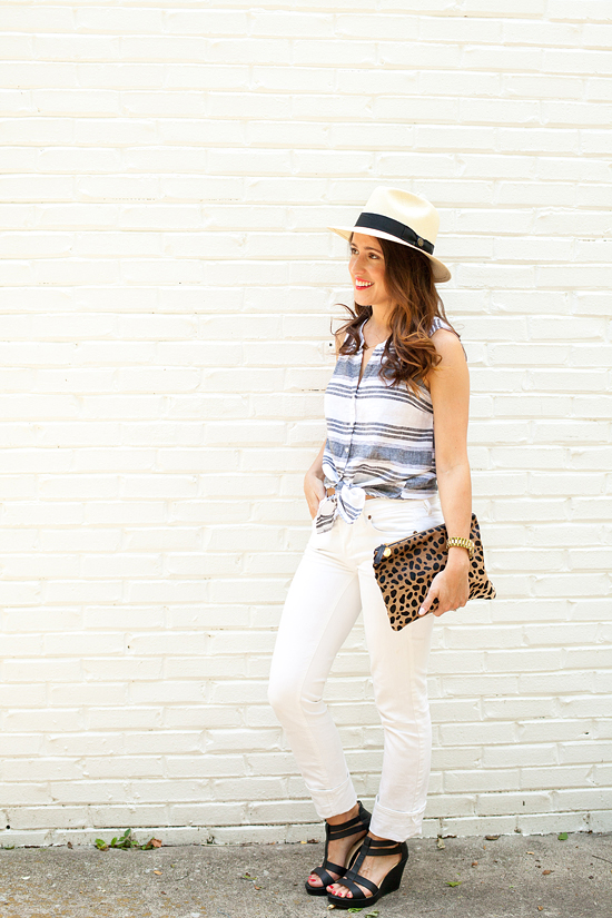 Here&Now Blog: Sleeveless button down remix
