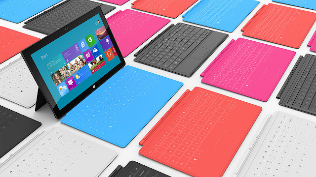 Microsoft Surface Tablet with Windows 8 Pro & RT colors