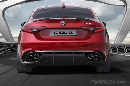 Alfa Romeo Giulia Quadrifoglio Rear View