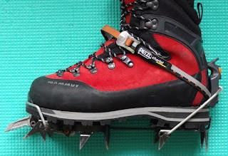 Petzl M10 Crampons on Mammut Boots