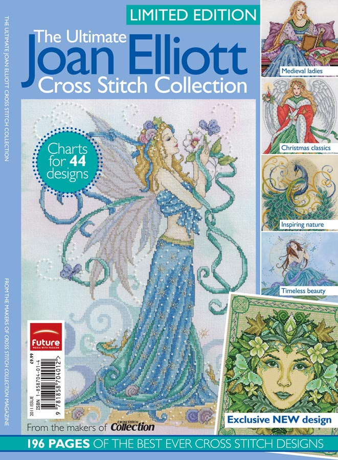 chris cross stitch mania joan elliott bookazine