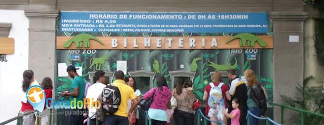 Bilheteria do Zoológico do Rio