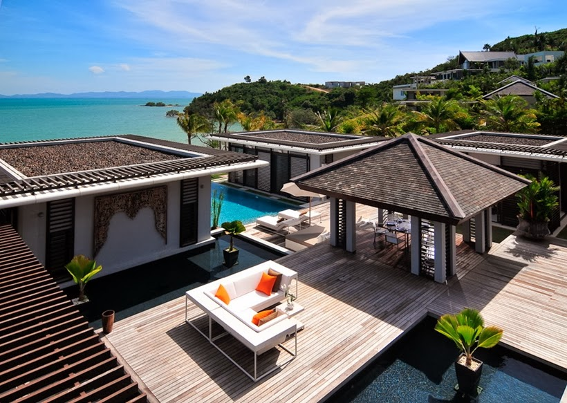 Terraces of Contemporary villa in Phuket, Thailand