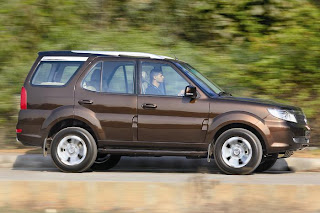 new tata safari storme side view