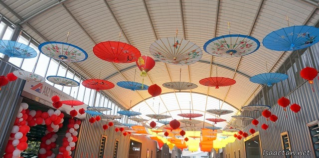 Beautiful hanging umbrellas setup by Shogun at Auto Arcade Petaling Jaya today
