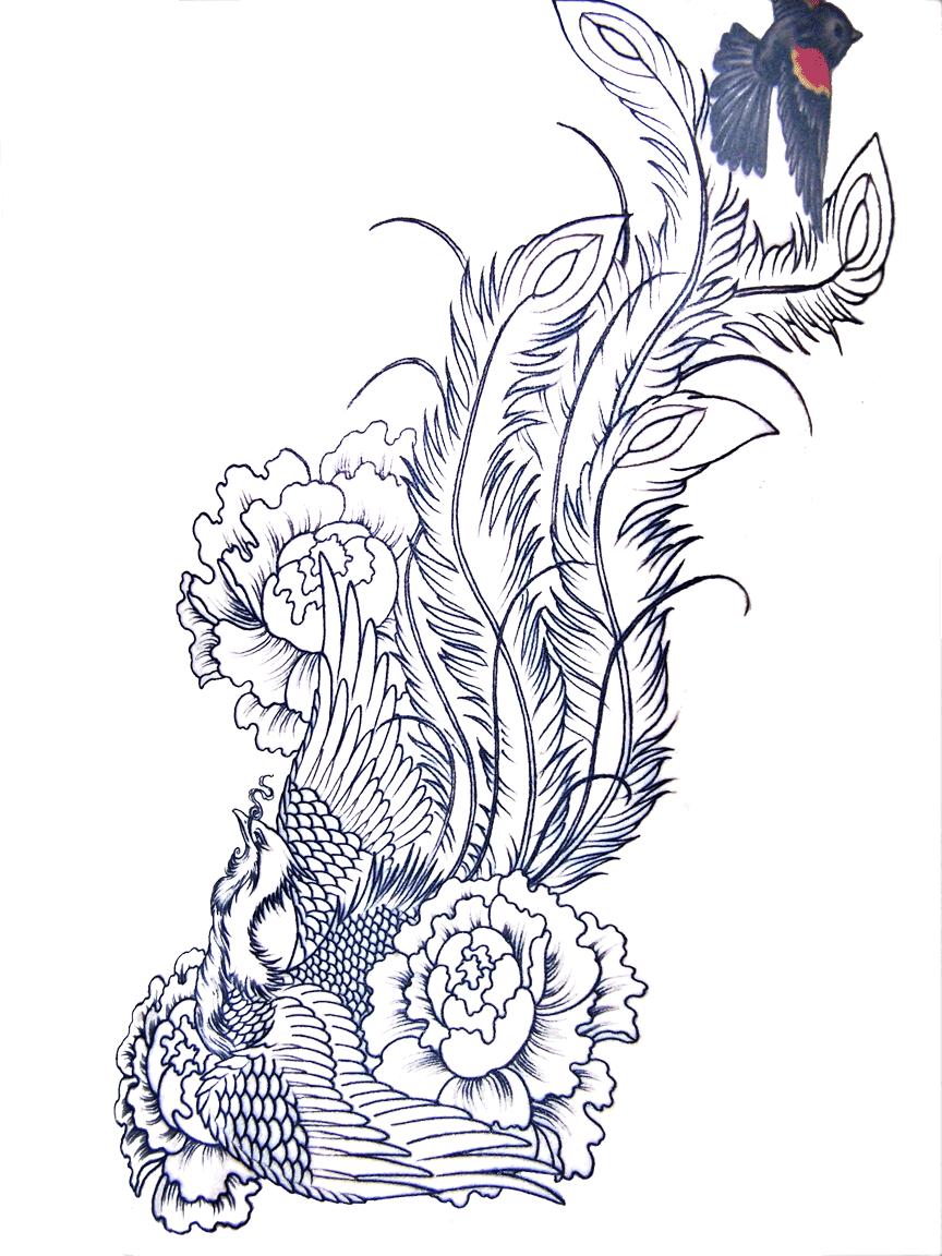 phoenix tattoo designs for men