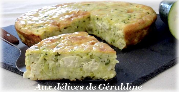 Aux d lices de g raldine clafoutis aux courgettes et la feta - Cuisiner courgettes poele ...