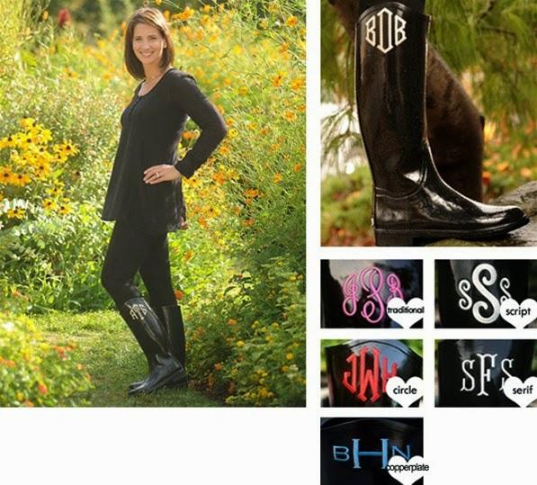 Women's Monogrammed Boots