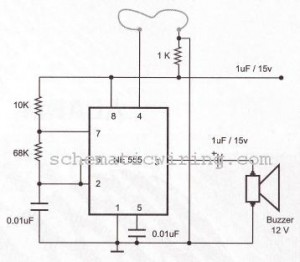electronic circuit diagram electro schematic burglar alarm usingburglar alarm using ic timer 555 556 electronic diagram
