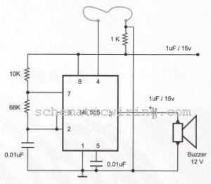 burglar alarm using ic timer 555 556 electronic diagram diagram rh softdigg blogspot com Alarm House System Simple Alarm Circuit Diagram