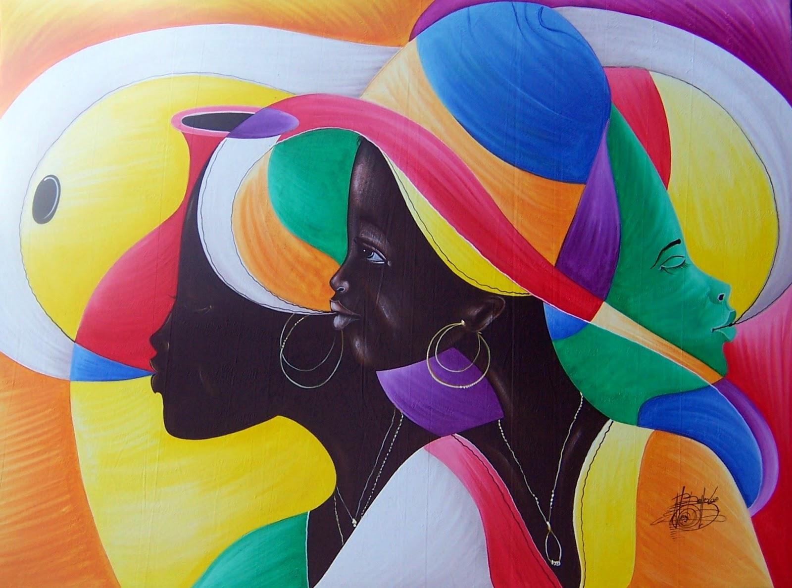 Haitianarts quadro arcobaleno isole