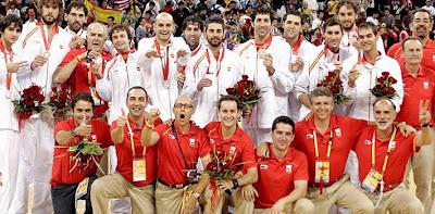 Equipo español de baloncesto, plata en los anteriores Juegos