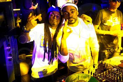 fotos de lil wayne boo y dj stevie j en el cumpleaños de meek mill