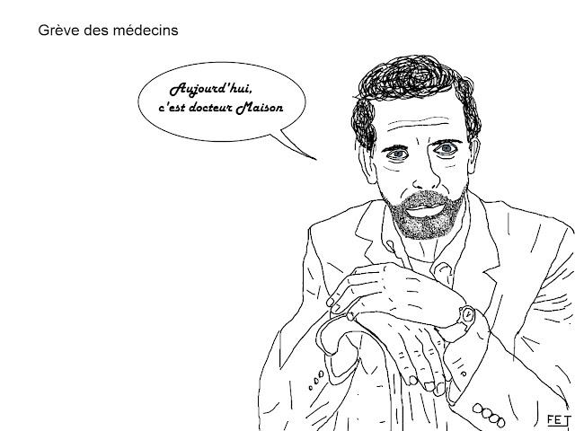 grève-médecin-docteur-house-fej-dessin