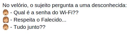 senha do wi fi