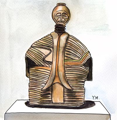 African statue by Yukié Matsushita