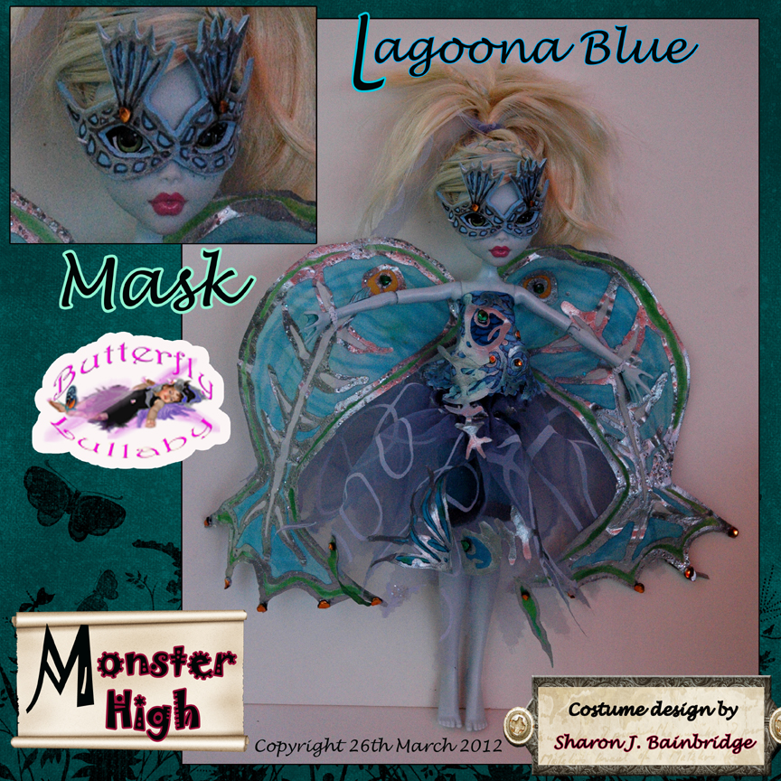 Butterfly lullaby sharon j bainbridge lagoona blue doll fancy dress mask monster high - Masque monster high ...