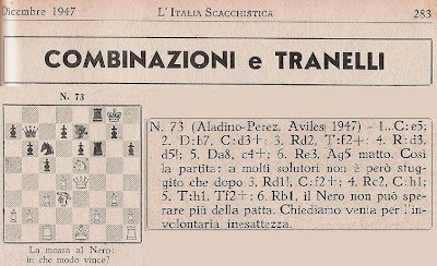 Partida de ajedrez Aladino Álvarez-Francisco José Pérez, problema