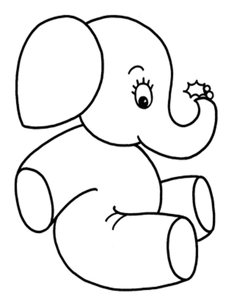 Elephants Coloring Pages Realistic