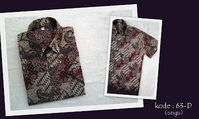 Baju Batik Pria 63D