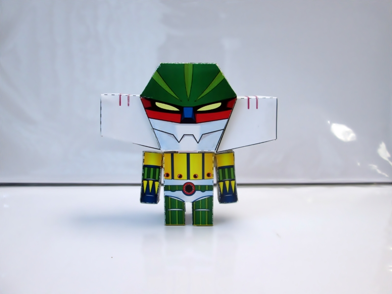 Steel Jeeg Paper Toy