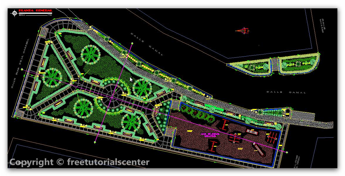 General Park Design Plan in Peru