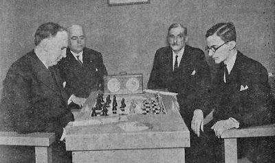Partida de ajedrez Dr. Rey contra Manuel Golmayo en el Campeonato de España de 1930