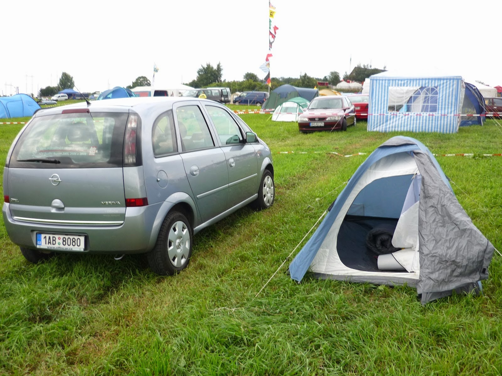 camping en el circuito de Brno