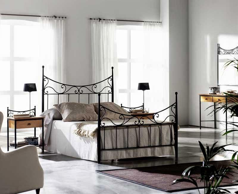 camas de forja, camas acero
