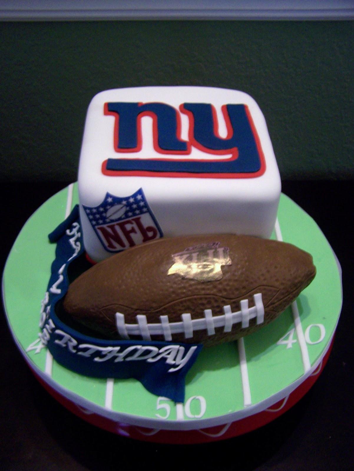 New York Giants Birthday Cake