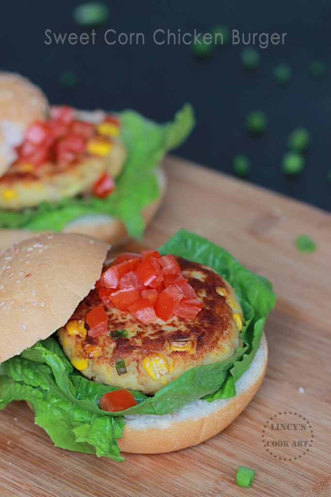 Sweet Corn Chicken Burger