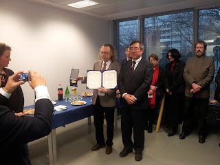 Remise du prix du National Institutes for the Humanities à Augustin Berque