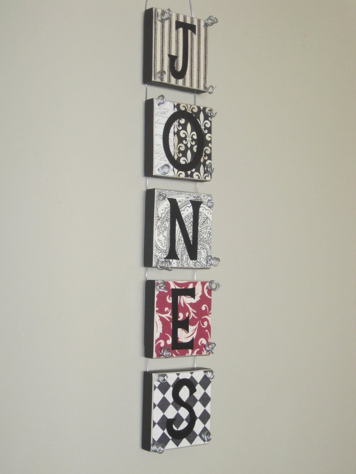 Wall Decor Block Letters : Simply said design personalized wall hanging wood block