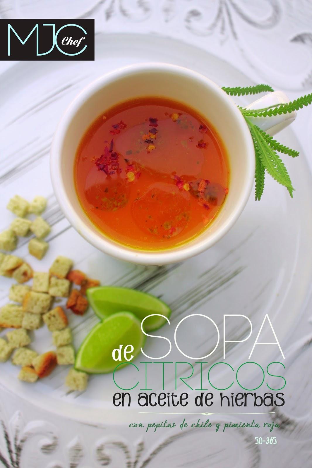 Sopa de cítricos