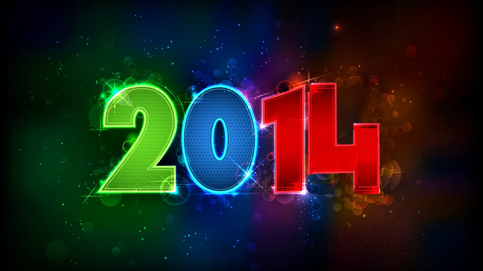 Colorful 2014 New Year Text Hd Wallpaper