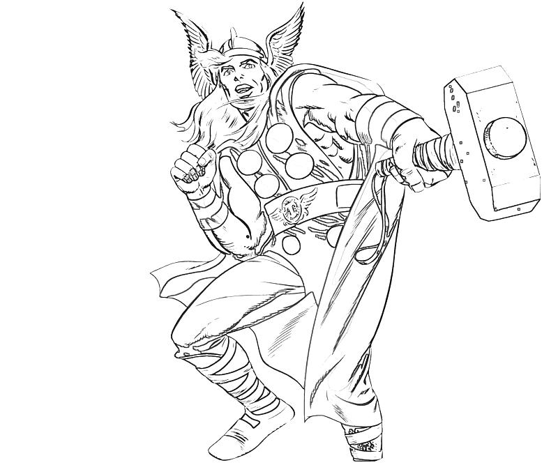 Thors Hammer Mjorn Pages Coloring Pages