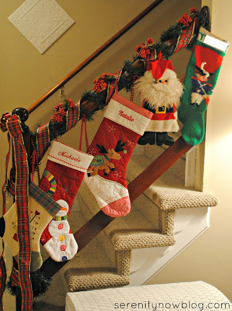 Stockings on Staircase, Serenity Now blog