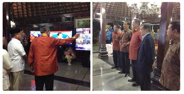 Inilah papan pengimuman SBY di Cikeas