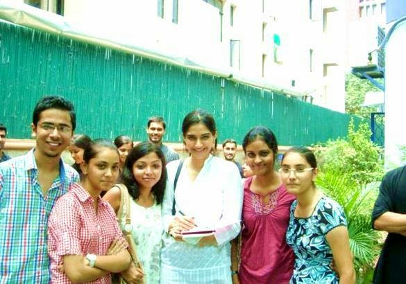 Sonam Kapoor's Real Life Unseen Personal Pics Images with her fans in delhi