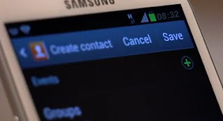 add contact on Samsung Galaxy s3 step7