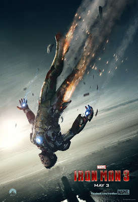 Tony Stark falling from the sky.