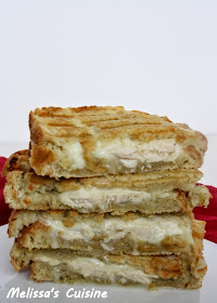 Melissa's Cuisine: Cheesy Chicken Panini on Dill Pickle Bread