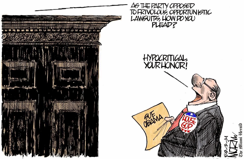 Judge to Republicans regarding lawsuit against President Obama: