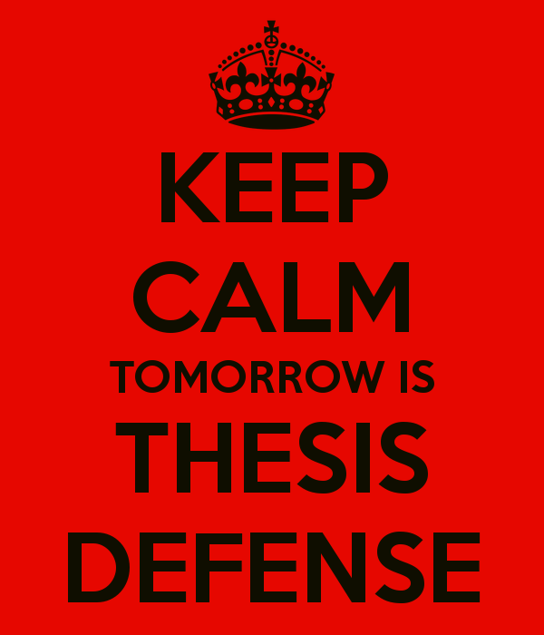 defending your master thesis