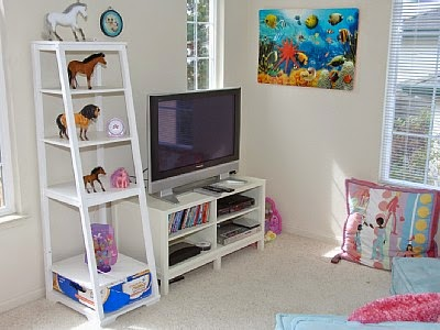 kids play room with tv