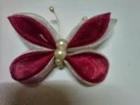 BROS KUPU KUPU 02 ( handmade) terbuat dari satin & organdi