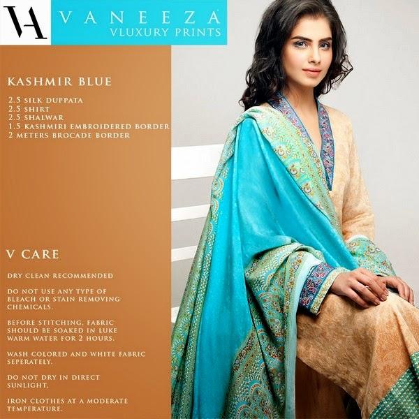 Vaneeza V Lawn Collection 2014