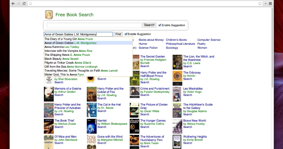 Book search tools