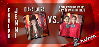 Diana Laura vs Raul Partida La Voz